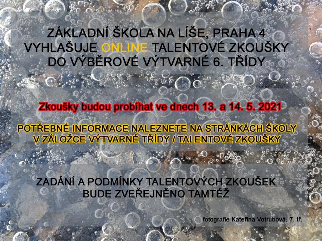 Talentové zkoušky 2021